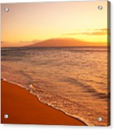 Maui, Hazy Orange Sunset Acrylic Print