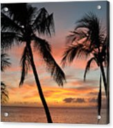 Maui Sunset Palms Acrylic Print