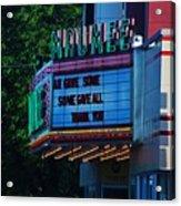Maumee Movie Theater I Acrylic Print
