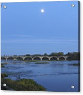 Maumee River At Sunset Acrylic Print