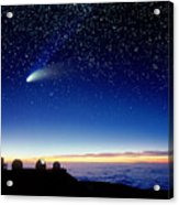 Mauna Kea Telescopes Acrylic Print by D Nunuk and Photo Researchers
