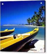 Maunalua Bay Outrigger Canoe Acrylic Print