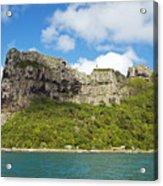 Maupiti Island Cliff Acrylic Print