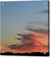 Mauve Clouds In A Blue Sky  Acrylic Print