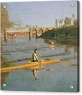 Max Schmitt In A Single Scull Acrylic Print by Thomas Cowperthwait Eakins