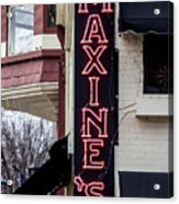 Maxine's Saloon Acrylic Print