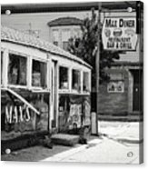 Max's Diner New Jersey Black And White Acrylic Print