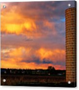 May Day Silo Sunset Acrylic Print