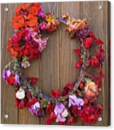 May Day Wreath Acrylic Print