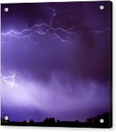 May Showers 2 In Color - Lightning Thunderstorm 5-10-11 Boulder Acrylic Print