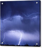 May Showers - Lightning Thunderstorm 5-10-2011 Acrylic Print