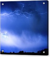 May Showers Two In Color - Lightning Thunderstorm 5-10-2011 Acrylic Print