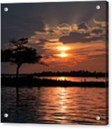 May Sunset At Detroit Point Acrylic Print