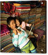 Mayan Brother, Sister Acrylic Print