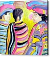 Mayan Indians Acrylic Print
