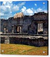 Mayan Ruins In Tulum 2 Acrylic Print