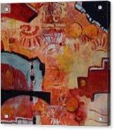 Mayan Shaman Acrylic Print