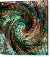 Mayhem Swirl Behind The Safety Net Catus 1 No. 1 H A Acrylic Print