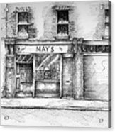 Mays Shop North King Street Dublin 7 Acrylic Print