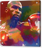 Mayweather Watercolor Acrylic Print