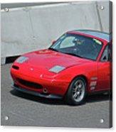 Mazda Miata On Pit Lane Acrylic Print