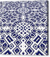 Maze Pattern Acrylic Print