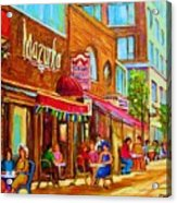 Mazurka Cafe Acrylic Print