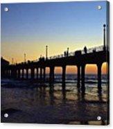 Mb Pier Sunset Acrylic Print