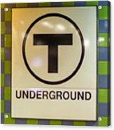 Mbta Underground Acrylic Print