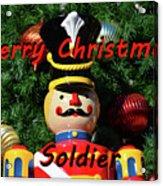 Custom Soldier Christmas Card Acrylic Print