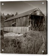 Mccann Covered Bridge  Acrylic Print by Jason Bennett