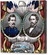 Mcclellan And Pendleton Campaign Poster Acrylic Print