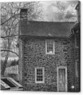 Mcconkey Ferry Inn Black And White Acrylic Print