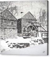 Mccormick's Farm February 2012 Series Vi Acrylic Print by Kathy Jennings