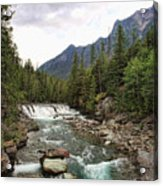 Mcdonald Falls - Glacier Acrylic Print