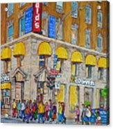 Mcdonald Restaurant Old Montreal Acrylic Print
