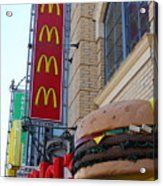 Mcdonalds Hamburger Restaurant . Fishermans Wharf . San Francisco California . 7d14249 Acrylic Print