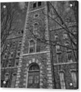 Mcgraw Hall - Bw Acrylic Print