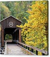Mckee Bridge In Fall Acrylic Print
