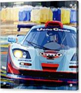 Mclaren Bmw F1 Gtr Gulf Team Davidoff Le Mans 1997 Acrylic Print by Yuriy  Shevchuk