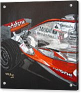 Mclaren F1 Alonso Acrylic Print