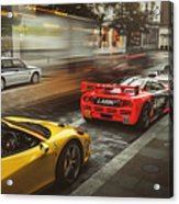 Mclaren F1 Gtr With Speciale And Integrale And 918 Acrylic Print