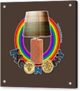 Mconomy Rainbow Brick Lamp Acrylic Print