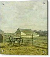 Mcpherson Barn And Cannon Gettysburg  Acrylic Print