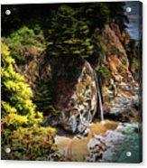 Mcway Falls Painting Acrylic Print