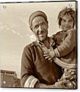 Me And Grandpa, Iran  Acrylic Print