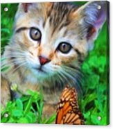 Me And My Monarch Acrylic Print