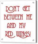 Me And My Red Wings 1 Acrylic Print