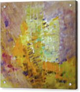 Meadow Flowers Abstract Acrylic Print