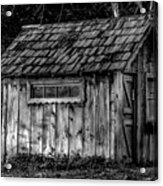 Meadow Shelter - Bw Acrylic Print
